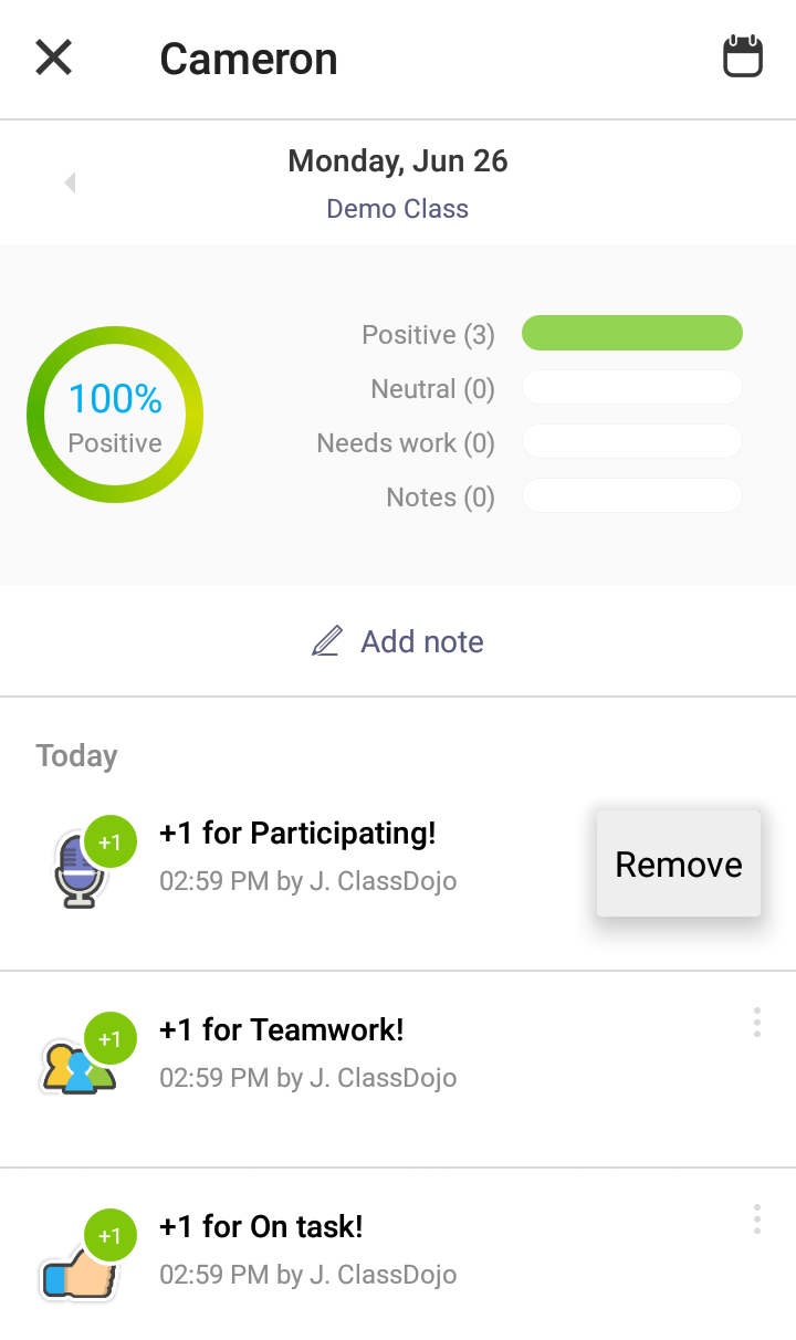 how to delete class dojo account