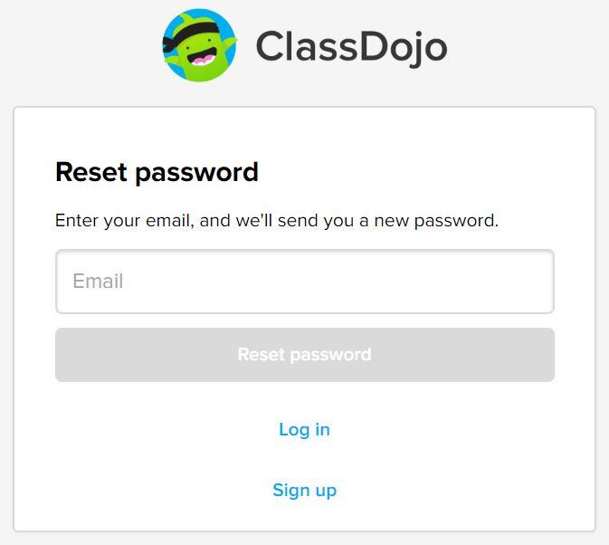 Reset A Lost Or Forgotten Password Classdojo Helpdesk